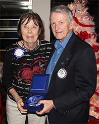Frank and Jackie Pression receive recognition as donors to The Rotary Foundation
