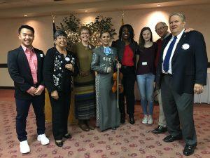 Three 2018 RYLA students with Catalina Rotarians