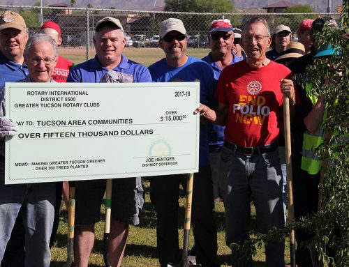Tucson Area Rotarians plant 50 trees at Udall Park to celebrate Arbor Day