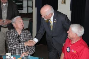 District Governor Joe greets Catalina members