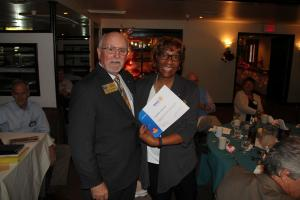 Past President Anita receives club District Recognition for Ride to End Polio