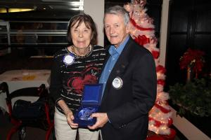 Jackie and Frank Presson are honored for their support of The Rotary Foundation